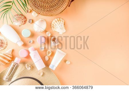 Summer Cosmetics Background