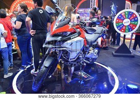 Pasay, Ph - Mar 24 - Ducati Multistrada 1200 Enduro Motorcycle At Inside Racing Motor Bike Festival