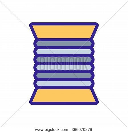 Coiled Cable Cord Icon Vector. Coiled Cable Cord Sign. Color Symbol Illustration