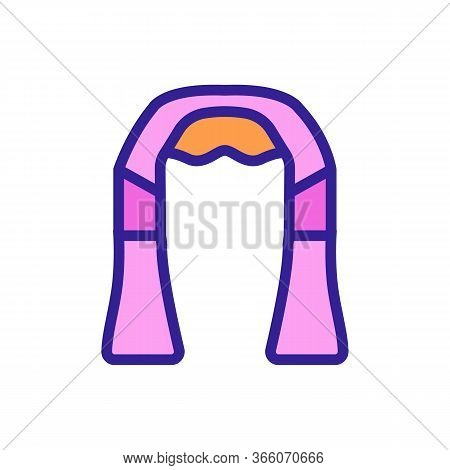 Neck And Shoulder Massager Icon Vector. Neck And Shoulder Massager Sign. Color Symbol Illustration