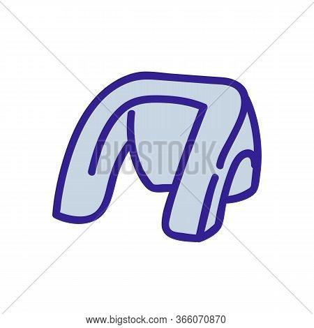 Shoulder Massager Icon Vector. Shoulder Massager Sign. Color Symbol Illustration