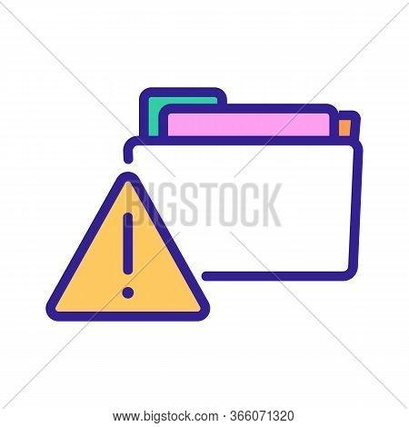 Hacking Information Folders Icon Vector. Hacking Information Folders Sign. Color Symbol Illustration