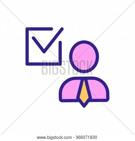 Voting For Politics Icon Vector. Voting For Politics Sign. Color Symbol Illustration