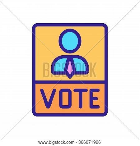Political Voting Booklet Icon Vector. Political Voting Booklet Sign. Color Symbol Illustration