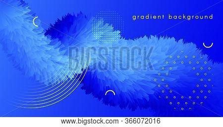 Abstract 3d Background. Blue Flow Wallpaper. Gradient Template. Liquid Digital Poster. Geometric Mov