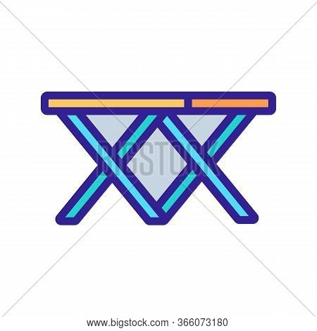 Folding Double Two Chairs Icon Vector. Folding Double Two Chairs Sign. Color Symbol Illustration