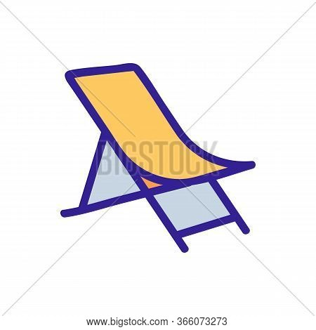 Sagging Fabric Chaise Longue Icon Vector. Sagging Fabric Chaise Longue Sign. Color Symbol Illustrati