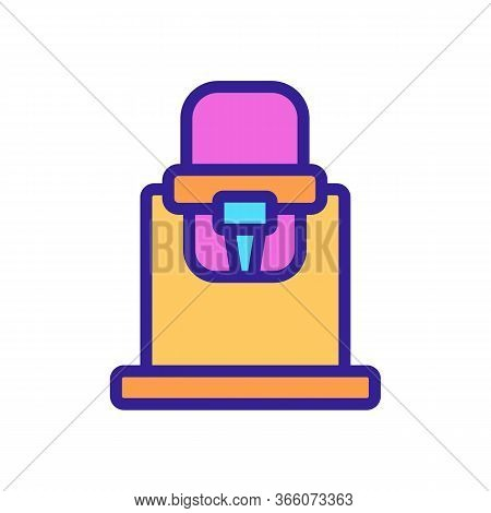 Baby Chair Transformer For Feeding With Clamp For Legs Icon Vector. Baby Chair Transformer For Feedi