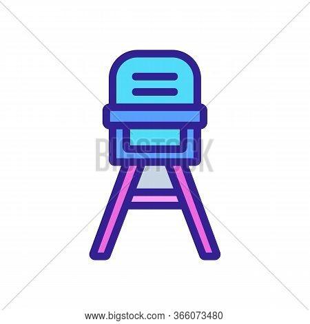 Baby Chair Transformer For Feeding Icon Vector. Baby Chair Transformer For Feeding Sign. Color Symbo