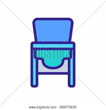 Sagging Chair Transformer For Feeding Icon Vector. Sagging Chair Transformer For Feeding Sign. Color