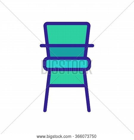 Classic Wooden Chair For Feeding Icon Vector. Classic Wooden Chair For Feeding Sign. Color Symbol Il