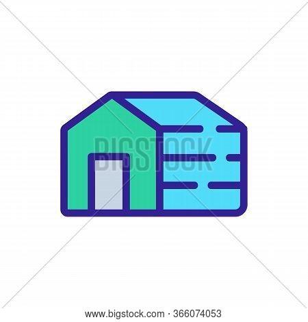 Sleeping Dog House Icon Vector. Sleeping Dog House Sign. Color Symbol Illustration