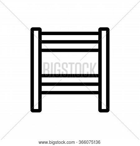 Slit Heated Towel Rail Icon Vector. Slit Heated Towel Rail Sign. Isolated Contour Symbol Illustratio