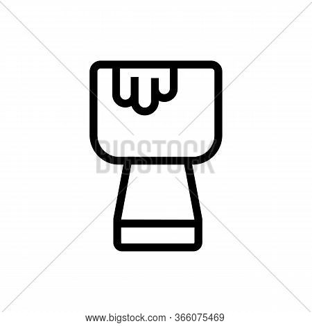 Cup Fondue With Something Melted Icon Vector. Cup Fondue With Something Melted Sign. Isolated Contou