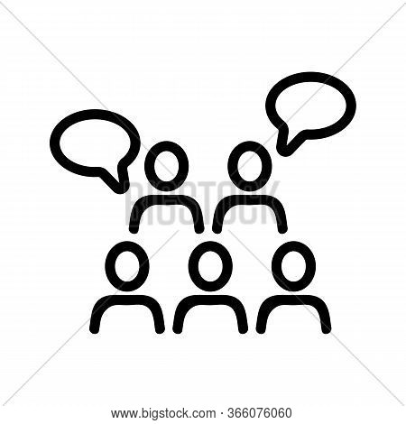 Sound Of Saying People Thoughts Icon Vector. Sound Of Saying People Thoughts Sign. Isolated Contour