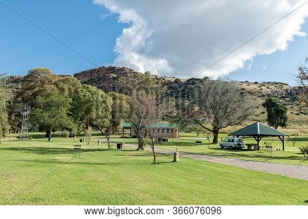 Fouriesburg, South Africa - March 18, 2020: The Camping Area At Uithoek Near Fouriesburg In The Free