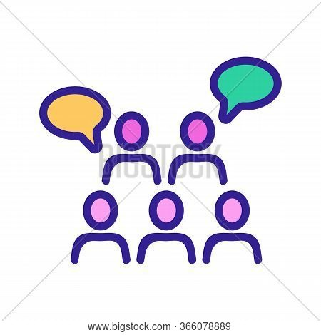 Sound Of Saying People Thoughts Icon Vector. Sound Of Saying People Thoughts Sign. Color Symbol Illu