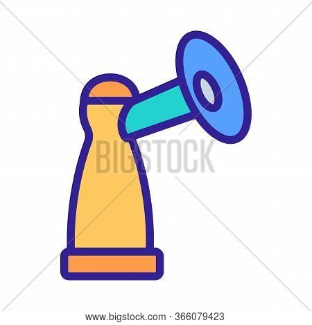 Piston Bottle With Suction Cup Icon Vector. Piston Bottle With Suction Cup Sign. Color Symbol Illust
