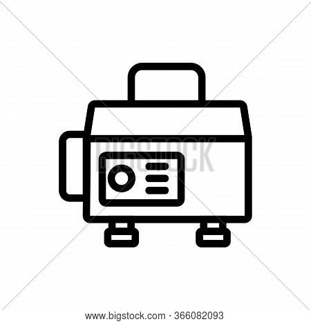 Sustainable Generator To Provide Electrics Icon Vector. Sustainable Generator To Provide Electrics S