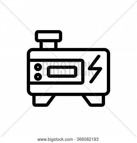 Inverter Generator Icon Vector. Inverter Generator Sign. Isolated Contour Symbol Illustration
