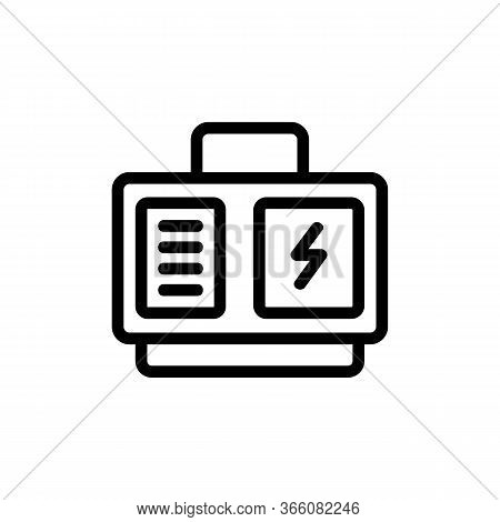 Electric Generator With Carry Handle Icon Vector. Electric Generator With Carry Handle Sign. Isolate