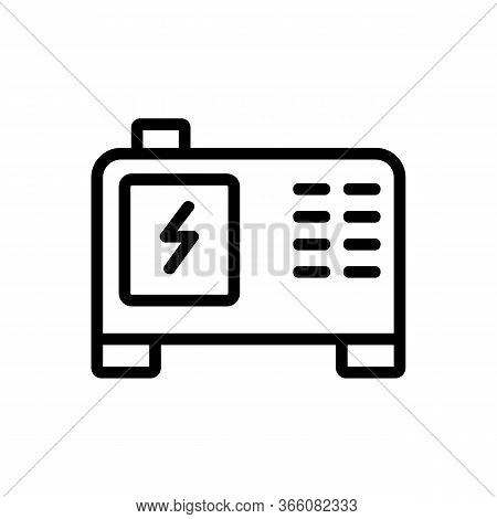 Electric Steady Current Generator Icon Vector. Electric Steady Current Generator Sign. Isolated Cont