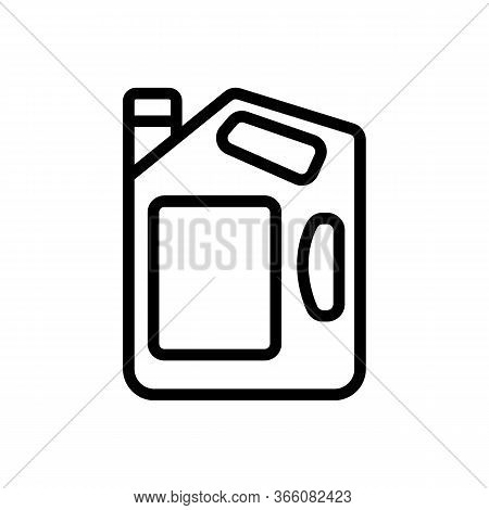 Portable Gas Canister Icon Vector. Portable Gas Canister Sign. Isolated Contour Symbol Illustration