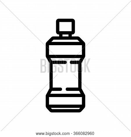Oral Fluid Bottle Icon Vector. Oral Fluid Bottle Sign. Isolated Contour Symbol Illustration