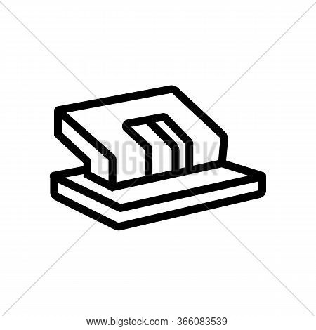 Stationery Puncher Icon Vector. Stationery Puncher Sign. Isolated Contour Symbol Illustration