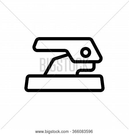 Office Convenient Hole Punch Icon Vector. Office Convenient Hole Punch Sign. Isolated Contour Symbol