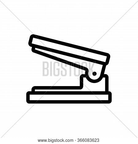 Open Hole Punch Icon Vector. Open Hole Punch Sign. Isolated Contour Symbol Illustration