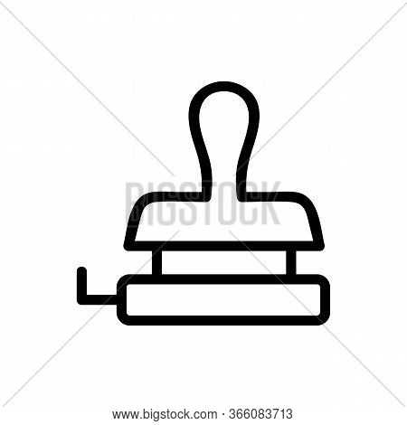 Punching Stamping Icon Vector. Punching Stamping Sign. Isolated Contour Symbol Illustration