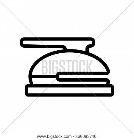 Stationery Hole Punch Icon Vector. Stationery Hole Punch Sign. Isolated Contour Symbol Illustration