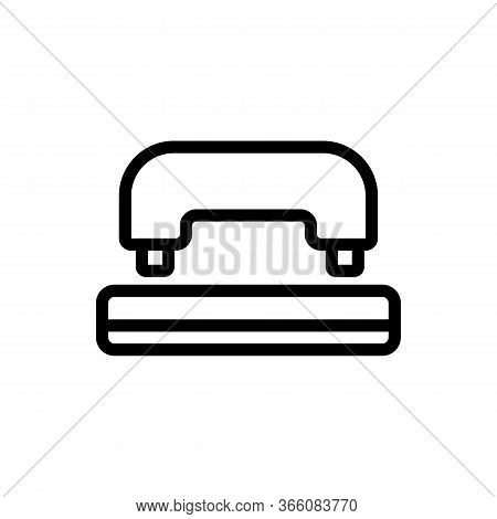 Office Hole Punch Front View Icon Vector. Office Hole Punch Front View Sign. Isolated Contour Symbol