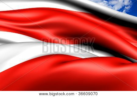 Flag of Brno Czech Republic. Close Up. poster