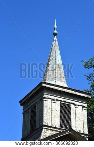 Metal Steeple On Methodist Church At Old Washington