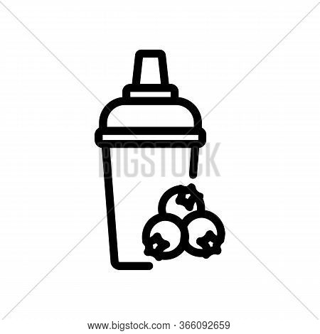 Hawthorn Cocktail Icon Vector. Hawthorn Cocktail Sign. Isolated Contour Symbol Illustration