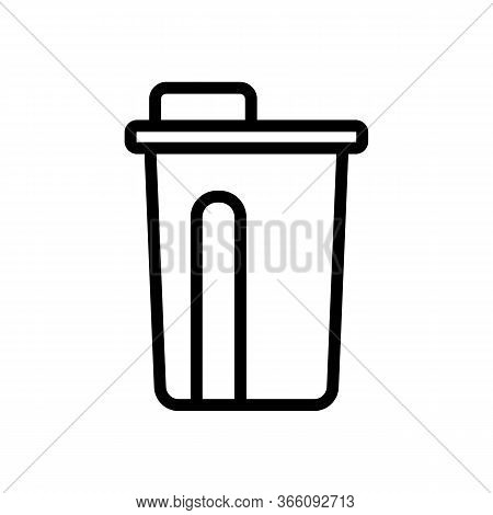 Lunch Glass Bottle Icon Vector. Lunch Glass Bottle Sign. Isolated Contour Symbol Illustration