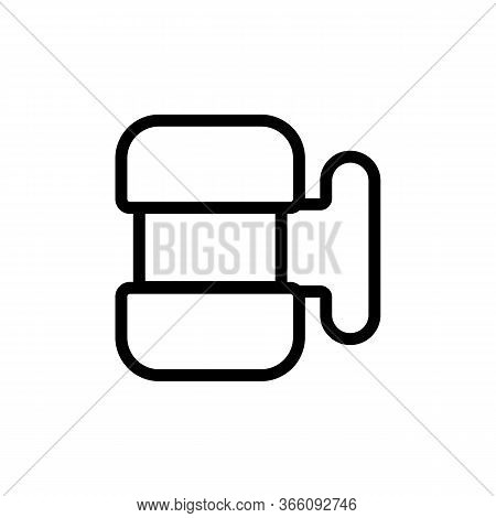 Sample Food Storage Container Icon Vector. Sample Food Storage Container Sign. Isolated Contour Symb