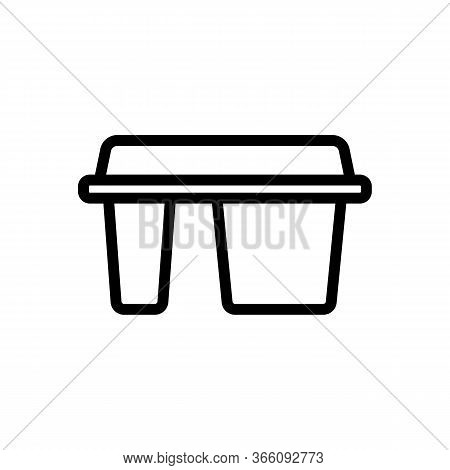 Different Departments Of Lunch Boxing Icon Vector. Different Departments Of Lunch Boxing Sign. Isola