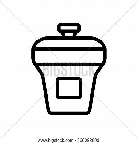 Food Container Rectangular Upright With Lid Icon Vector. Food Container Rectangular Upright With Lid