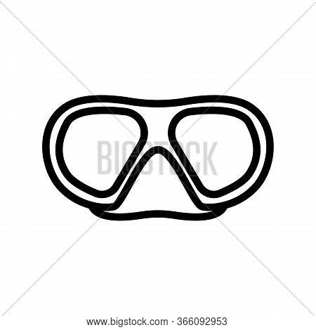 Oval Protective Diving Glasses With Nose Bridge Icon Vector. Oval Protective Diving Glasses With Nos
