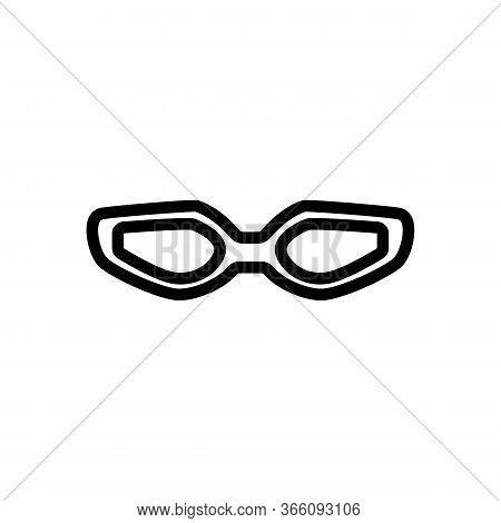 Swimming Goggles Icon Vector. Swimming Goggles Sign. Isolated Contour Symbol Illustration