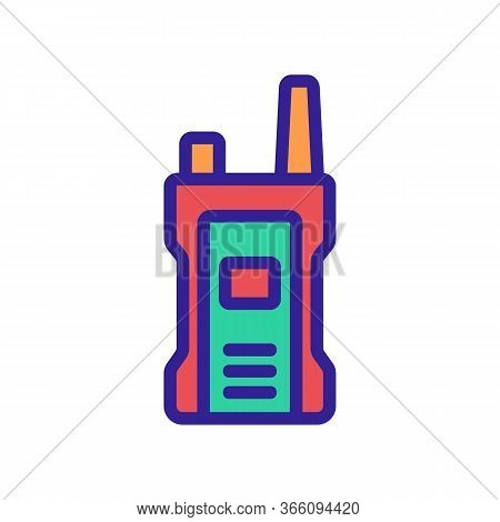 Compact Shockproof Walkie-talkie Icon Vector. Compact Shockproof Walkie-talkie Sign. Color Symbol Il