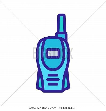 Compact Walkie-talkie Icon Vector. Compact Walkie-talkie Sign. Color Symbol Illustration