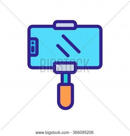 Phone Holder For Pictures Icon Vector. Phone Holder For Pictures Sign. Color Symbol Illustration