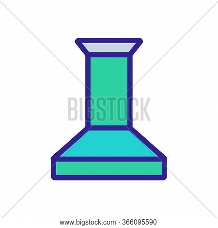 Overall Exhaust Kitchen Device Icon Vector. Overall Exhaust Kitchen Device Sign. Color Symbol Illust