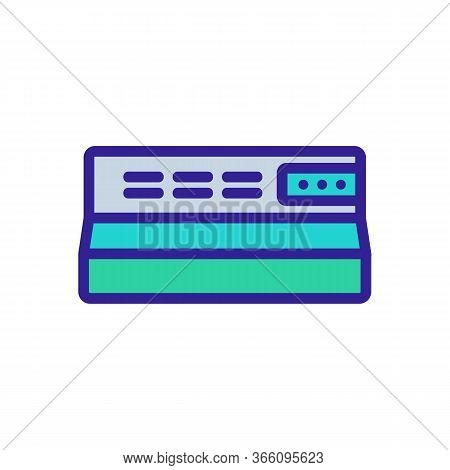 Cooker Hood Control Panel Icon Vector. Cooker Hood Control Panel Sign. Color Symbol Illustration