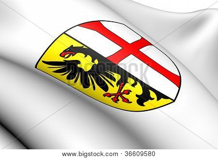 Memmingen Coat of Arms Germany. Close Up. poster