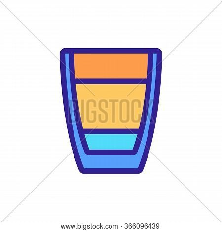 Measuring Bowl Whipping Glass Icon Vector. Measuring Bowl Whipping Glass Sign. Color Symbol Illustra